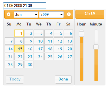 jQuery Date/Time Picker